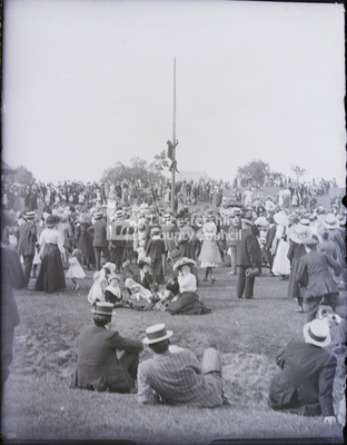 Coronation George V; Boy on pole