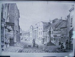"John Flowers' drawings - ""High Cross Street, Leicester"""