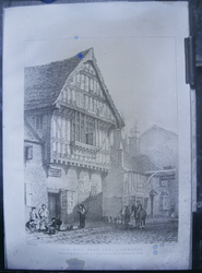 "John Flowers' drawings - ""Old Blue Boar Inn, Leicester"""