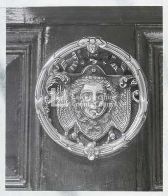 """Mr Sherwin's Door knocker"""