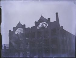 Lulham & Co. Shoe Warehouse bombed; front view