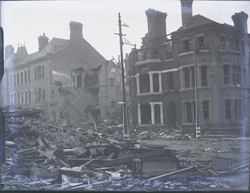 Leicester: Devastation on a city street
