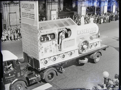 "Parade: ""Cascelloid"" (plastics co.) float -Lord Mayor's Show 1961"