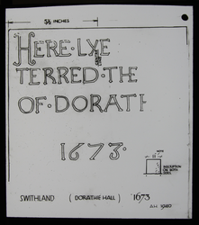 LS412 - Tombstone of Dorathie Hall
