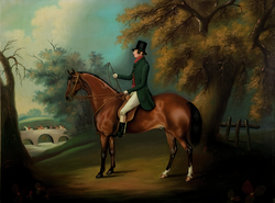 Equestrian Portrait of H. W. Penistone, Esq., of Oakham